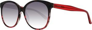 Czerwone okulary damskie Guess