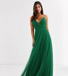 Sukienka Asos z dekoltem w kształcie litery v na ramiączkach