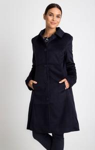 Granatowy płaszcz QUIOSQUE w stylu casual