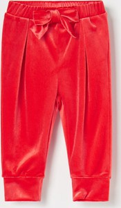 Czerwone spodnie dziecięce Reserved dla dziewczynek