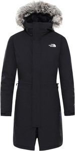 Czarna kurtka The North Face długa w stylu casual
