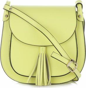 Żółta torebka VITTORIA GOTTI przez ramię średnia ze skóry