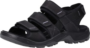 Czarne buty letnie męskie Ecco ze skóry na zamek