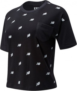 Bluzka New Balance z okrągłym dekoltem w sportowym stylu