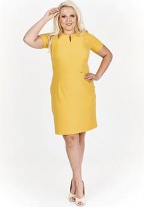 Żółta sukienka Filloo z krótkim rękawem