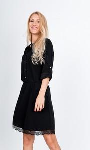 Sukienka Zoio oversize mini z długim rękawem