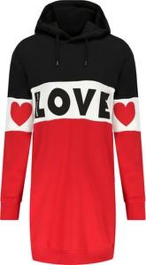 Sukienka Love Moschino z długim rękawem w stylu casual mini