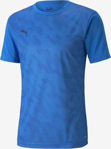 Niebieski t-shirt Puma w sportowym stylu
