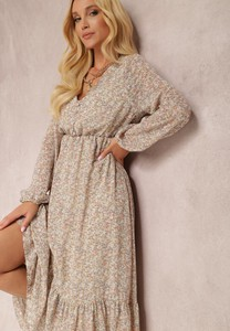 Sukienka Renee z dekoltem w kształcie litery v maxi w stylu casual