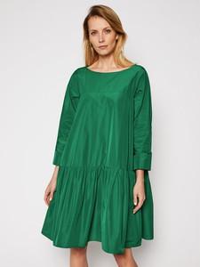 Zielona sukienka MaxMara z długim rękawem mini w stylu casual