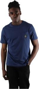 Niebieski t-shirt Refrigiwear z krótkim rękawem w stylu casual