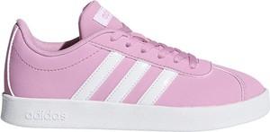 Różowe trampki Adidas sznurowane
