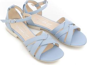 Sandały Zapato z klamrami ze skóry