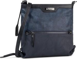 Niebieska torebka Rieker na ramię średnia w stylu casual