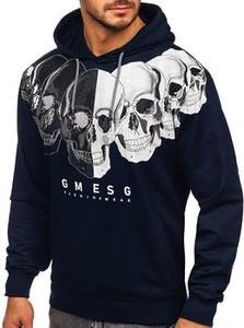 Czarna bluza Denley z bawełny z nadrukiem w młodzieżowym stylu