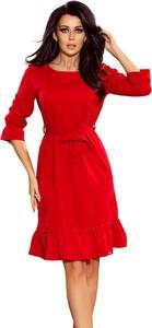 Sukienka NUMOCO z okrągłym dekoltem midi
