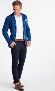 Niebieska marynarka Ombre_Premium