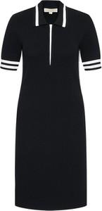 Czarna sukienka Michael Kors w stylu casual prosta z krótkim rękawem