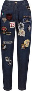 Niebieskie jeansy Aeronautica Militare w street stylu z jeansu