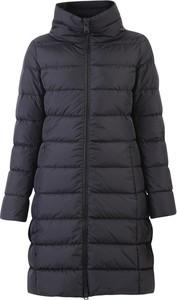 Granatowy płaszcz Herno w stylu casual