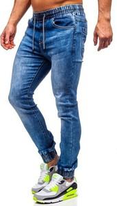 Granatowe jeansy Denley
