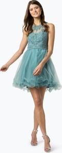 Niebieska sukienka Laona mini z tiulu rozkloszowana