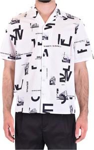 Koszula Neil Barrett w młodzieżowym stylu z krótkim rękawem