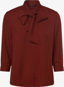 Czerwona bluzka Vero Moda ze sznurowanym dekoltem z długim rękawem