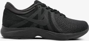 Czarne buty sportowe Nike sznurowane revolution z płaską podeszwą
