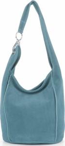 Niebieska torebka VITTORIA GOTTI w wakacyjnym stylu ze skóry
