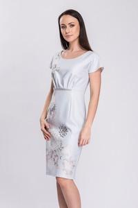 Sukienka Semper z okrągłym dekoltem z tkaniny ołówkowa