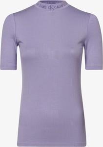 Fioletowa bluzka Calvin Klein z dżerseju