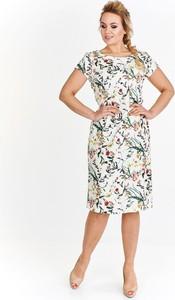 Sukienka Fokus midi ołówkowa z krótkim rękawem