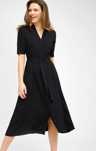 Czarna sukienka ORSAY szmizjerka