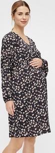 """Mama Licious Sukienka ciążowa """"Corina"""" w kolorze czarno-jasnoróżowym"""