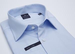 Niebieska koszula Lanieri z tkaniny z klasycznym kołnierzykiem