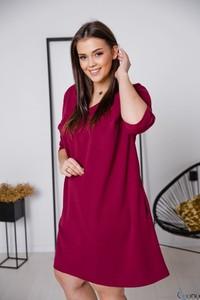 Sukienka tono.sklep.pl z dekoltem w kształcie litery v z długim rękawem w stylu casual