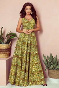 Sukienka NUMOCO w stylu boho z dekoltem w kształcie litery v