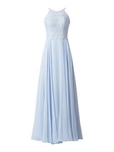 Niebieska sukienka Luxuar maxi bez rękawów