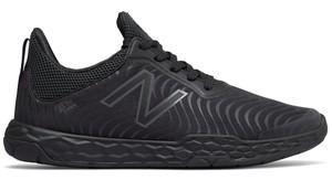 Czarne buty sportowe New Balance w sportowym stylu sznurowane