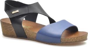 Sandały Lemar na średnim obcasie w stylu casual ze skóry