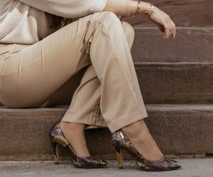 Czółenka Zapato z nadrukiem na wysokim obcasie