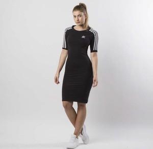 78e028bda6 Sukienka Adidas Originals dopasowana midi z krótkim rękawem