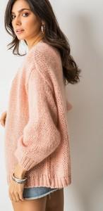 Różowy sweter Adilynn z moheru w stylu casual