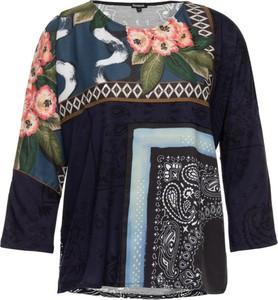 Granatowa bluzka Desigual z okrągłym dekoltem