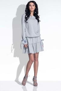 Sukienka Fobya z okrągłym dekoltem mini
