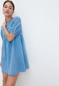 Sukienka Mohito mini oversize z długim rękawem