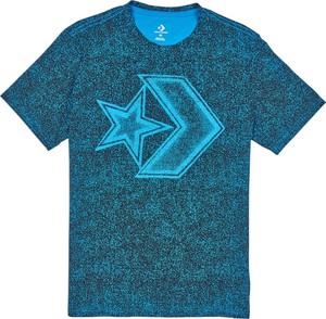 Niebieski t-shirt Converse z krótkim rękawem