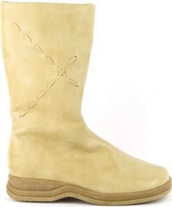 Żółte buty dziecięce zimowe Jastrzębski dla dziewczynek