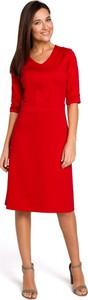 Sukienka Stylove midi z długim rękawem prosta